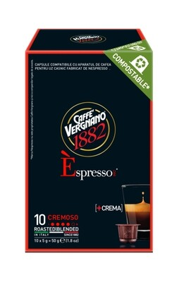 Vergnano E'spresso Cremoso Nepsresso kompatibilis komposztálható kávékapszula 10 db