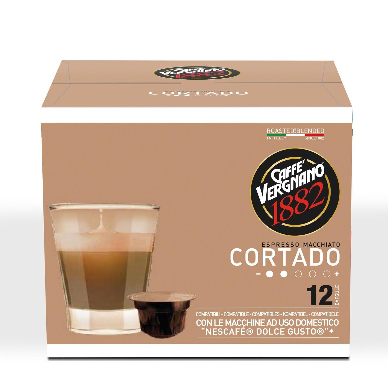Caffè Vergnano Cortado  Dolce Gusto®*/NESCAFE®* kompatibilis kávékapszula 90 g