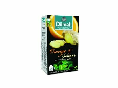 Dilmah Orange&Ginger narancs aromás fekete tea aromazáró dobozban 20*1,5g