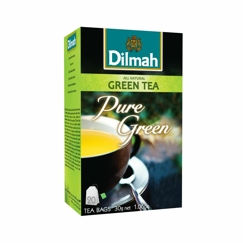 Dilmah filteres natúr zöld tea aromazáró dobozban 20*1,5g