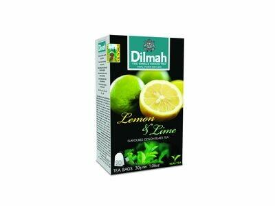 Dilmah Lemon&Lime citrom aromás fekete tea aromázaró dobozban 20*1,5g