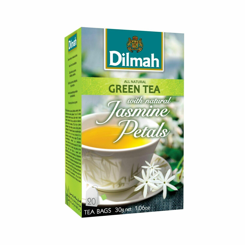Dilmah filteres aromás zöldtea jázmin ízesítéssel aromazáró dobozban 20*1,5g