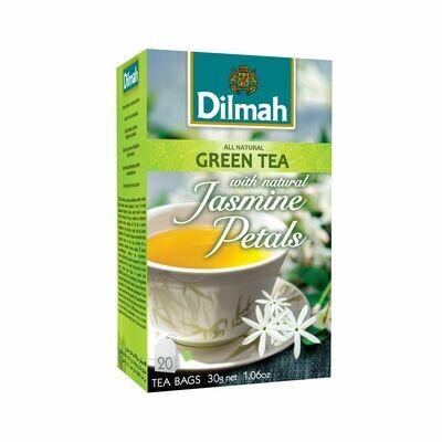 Dilmah Jasmine Green Tea aromás zöldtea aromazáró dobozban 20*1,5g