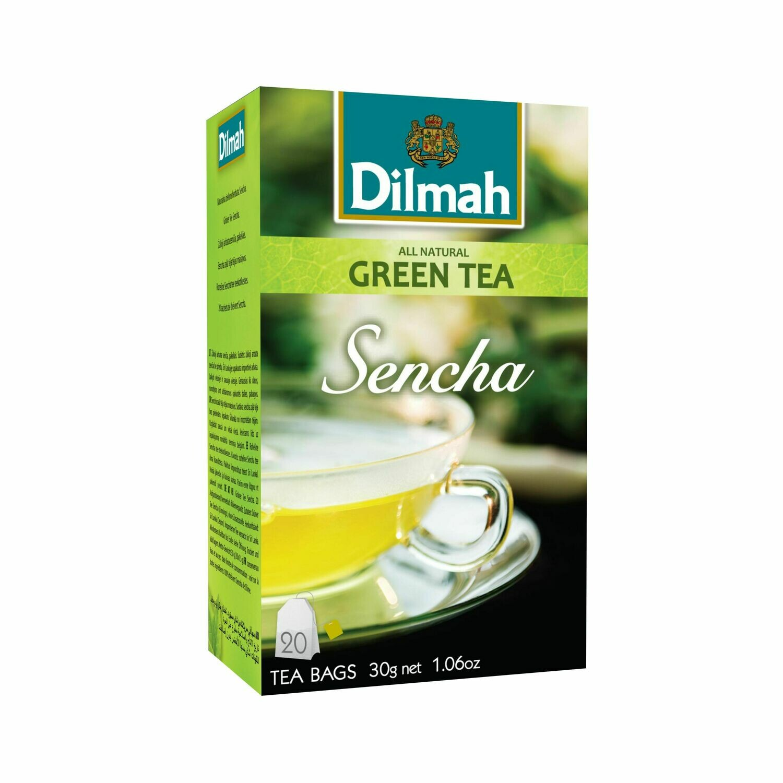 Dilmah filteres Sencha zöld tea aromazáró dobozban 20*1,5g