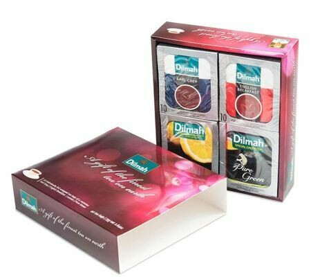 Dilmah Gift of the Finest Tea 40 filteres fekete és zöldtea 75g
