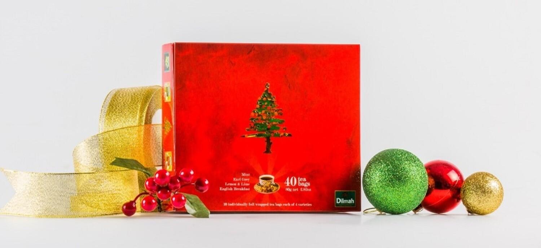 Dilmah Christmas Gift Pack 40 filteres fektetea 80g