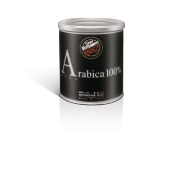 Vergnano 100% Arabica őrölt kávé fémdobozban kotyogóhoz 250g