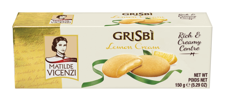 Vicenzi Grisbi Lemon citromos krémmel (40%) töltött sütemények (9 db) 150g