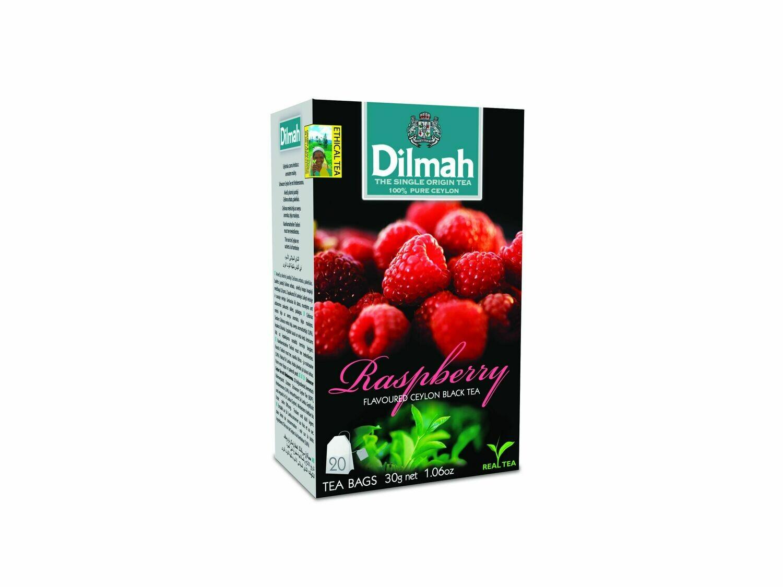 Dilmah Raspberry málnás ízesítésű fekete tea 20*1,5g