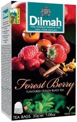 Dilmah Forest berry  erdeigyümölcsös aromás fekete tea aromázaró dobozban 20*1,5g
