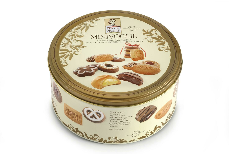 Vicenzi Minivoglie prémium olasz keksz válogatás fémdobozban 500g