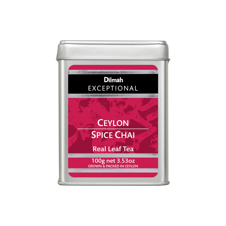 Dilmah Ceylon Spice Chai szálas fekete tea fémdobozban 100g