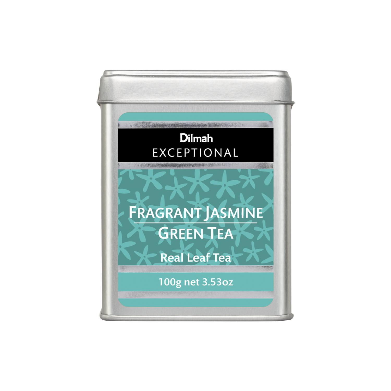 Dilmah Jasmine Green Tea aromás szálas zöld tea fémdobozban 100g