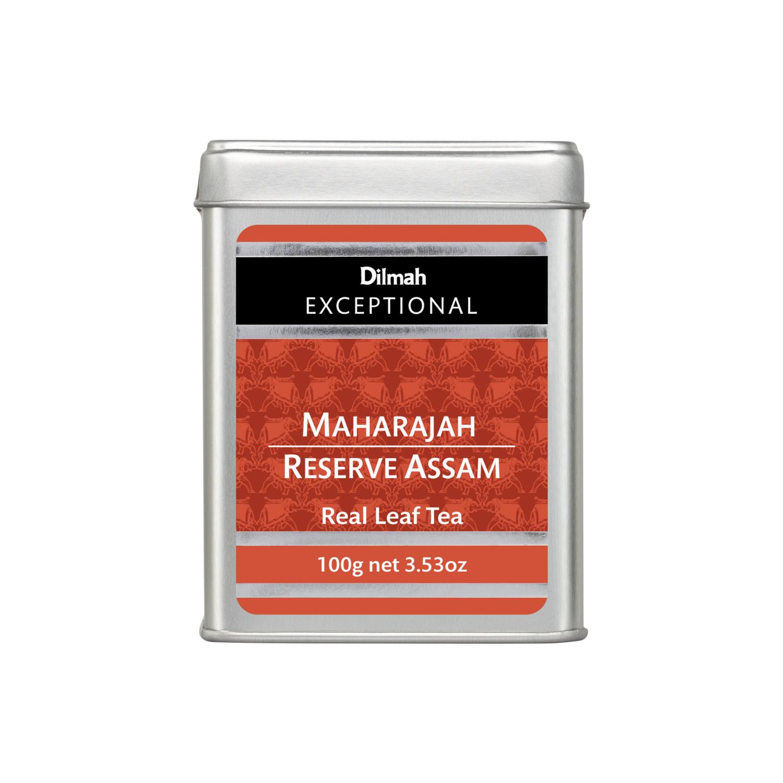 Dilmah Maharajah Reserve Assam szálas fekete tea fémdobozban 100g