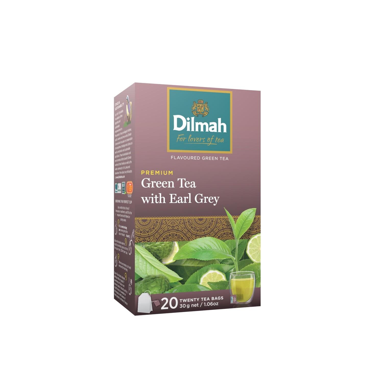 ÚJ Dilmah filteres zöld tea bergamottal aromazáró dobozban 20x1,5g