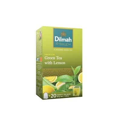ÚJ Dilmah filteres zöld tea citrom ízesítéssel aromazáró dobozban 20x1,5g