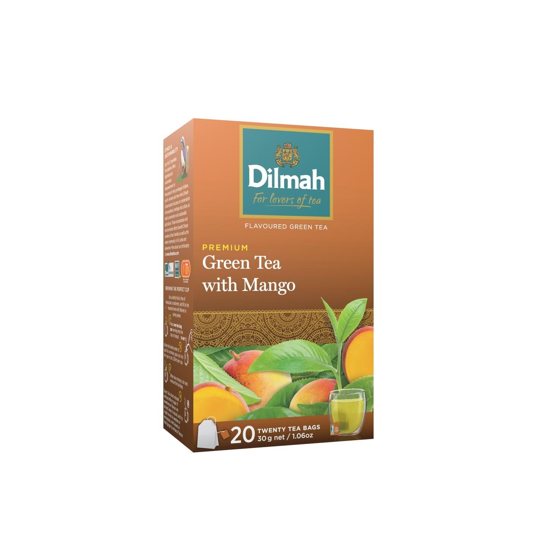 ÚJ Dilmah filteres zöld tea mangó ízesítéssel aromazáró dobozban 20x1,5g
