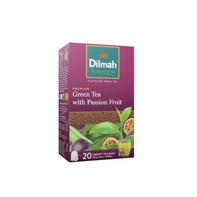 ÚJ Dilmah filteres zöld tea passiógyümölcs ízesítéssel aromazáró dobozban 20x1,5g
