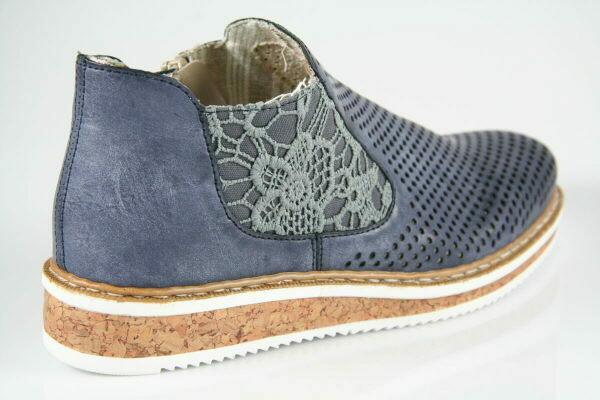 Serbia Slipper jeans blau