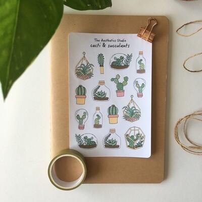 cacti & succulents Sticker Sheet