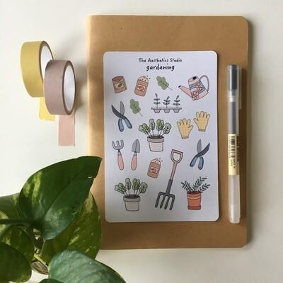 gardening Sticker Sheet