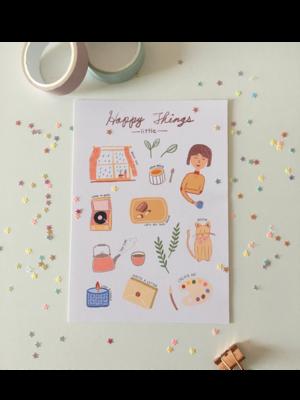 Happy little things Art Print