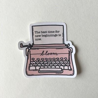 typewriter Die Cut Sticker