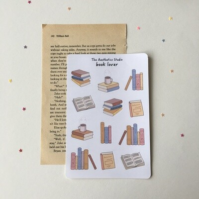 book lover Sticker Sheet