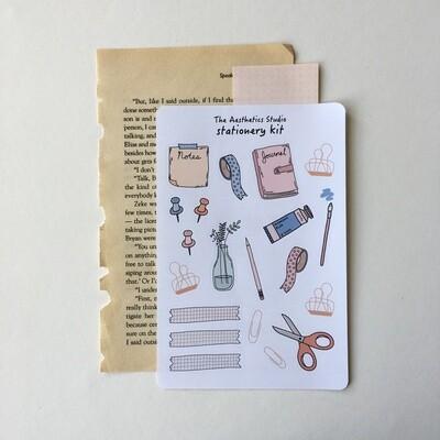 stationery kit Sticker Sheet