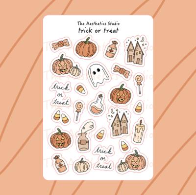 trick or treat printable sticker sheet
