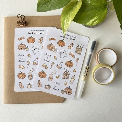 trick or treat sticker collection