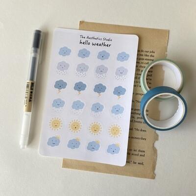 hello weather Sticker Sheet