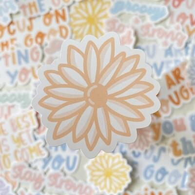 aesthetic flower Die Cut Sticker