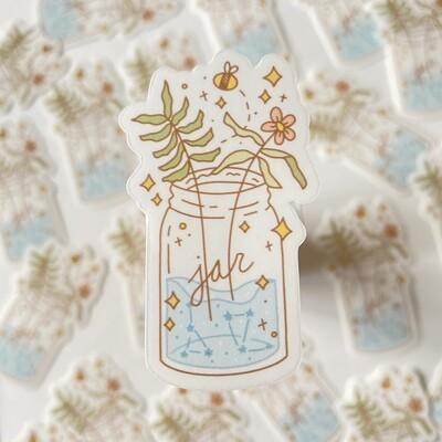 clear flower jar Die Cut Sticker