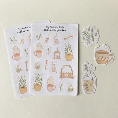 enchanted garden sticker sheet