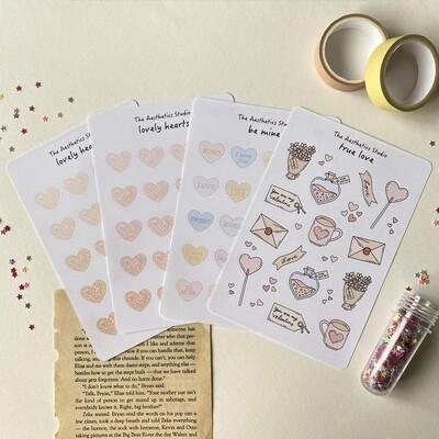 valentine's day sticker sheets