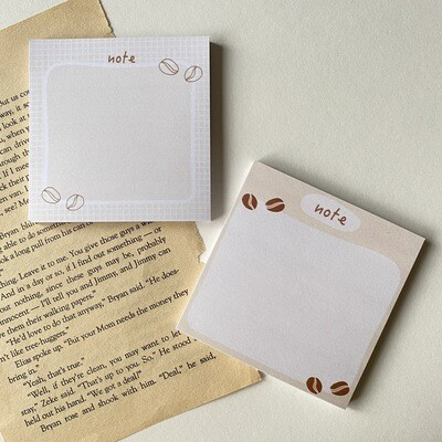 coffee theme sticky notes