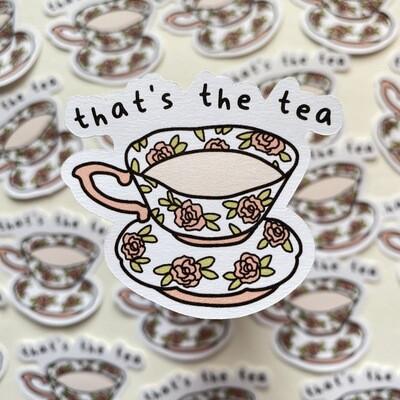 tea Die Cut Sticker