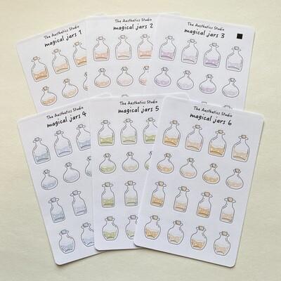 magical jars Sticker Sheet