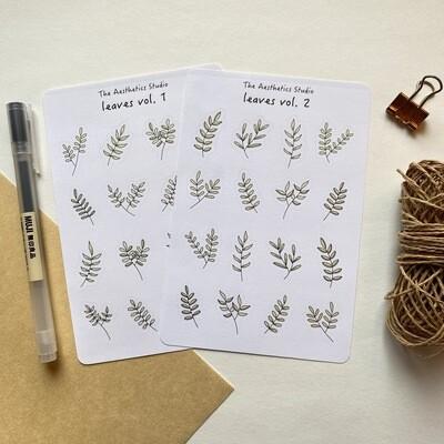 leaves Sticker Sheet