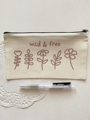 wild & free pencil pouch
