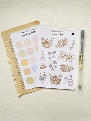 picnic date Sticker Sheet