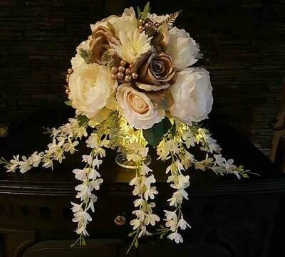 Artificial flower vase arrangement