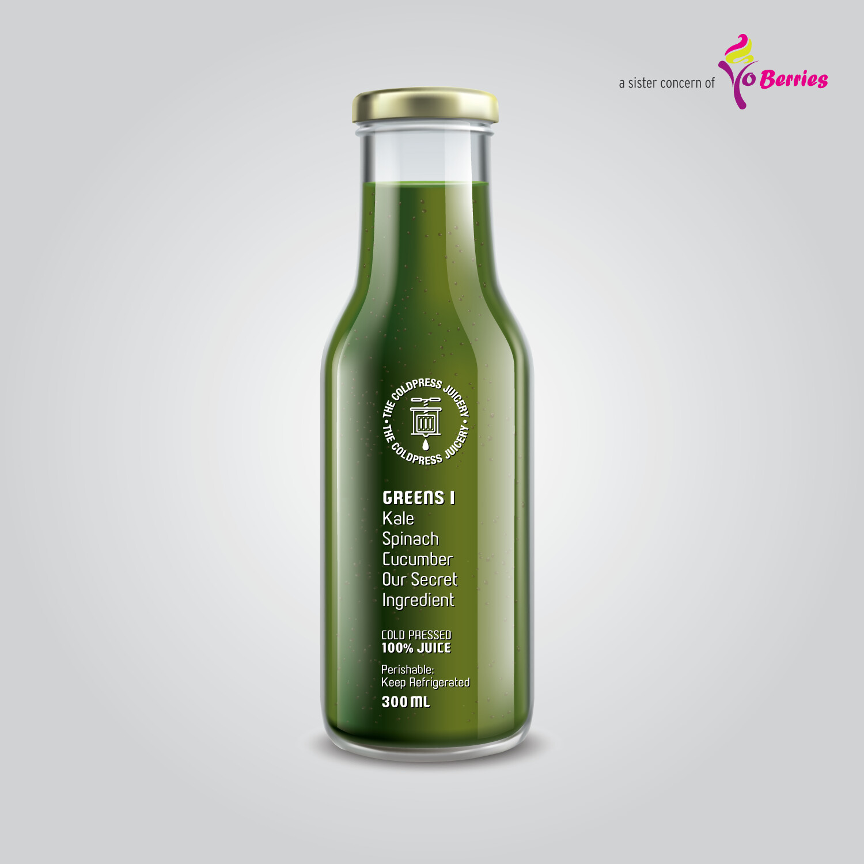 GREENS I (Kale Cucumber Spinach Juice)