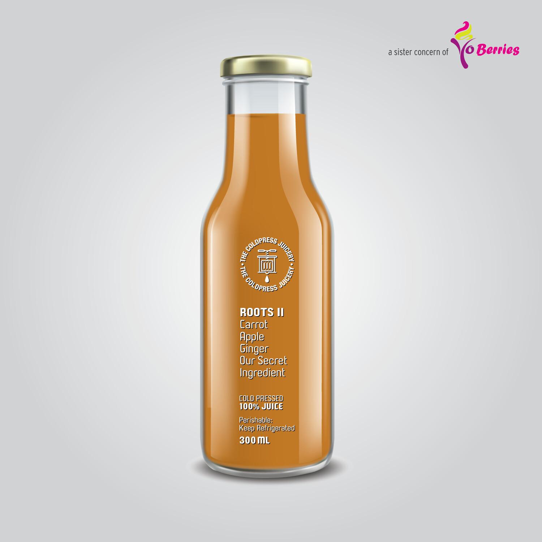 ROOTS II (Carrot, Apple, Ginger Juice)