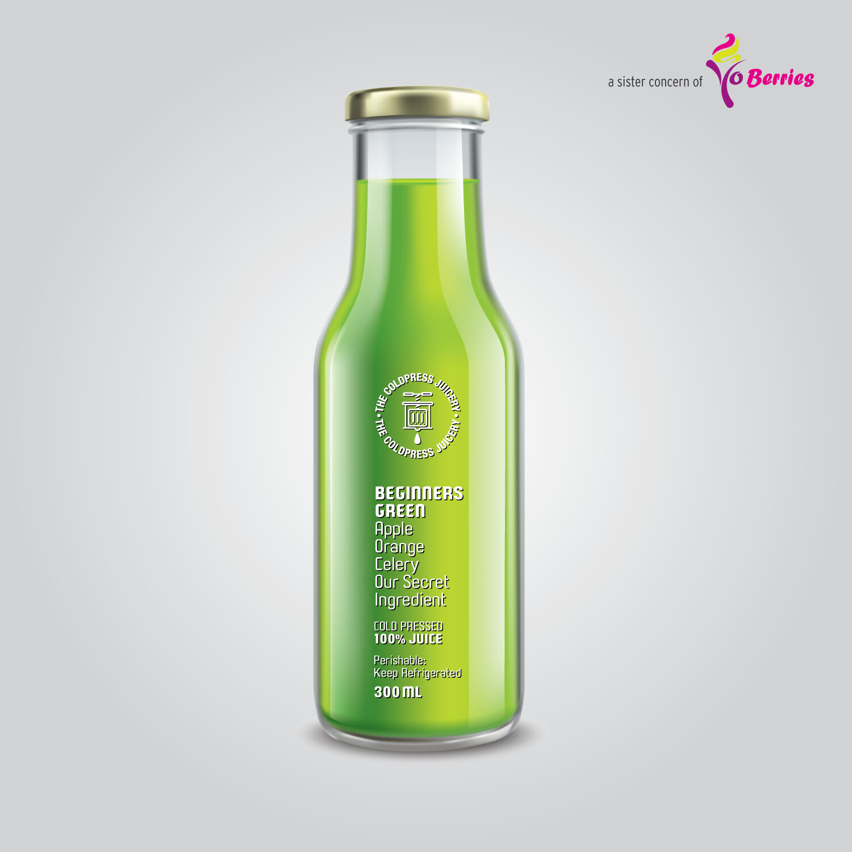 BEGINNERS GREEN (Apple Orange Celery Juice)