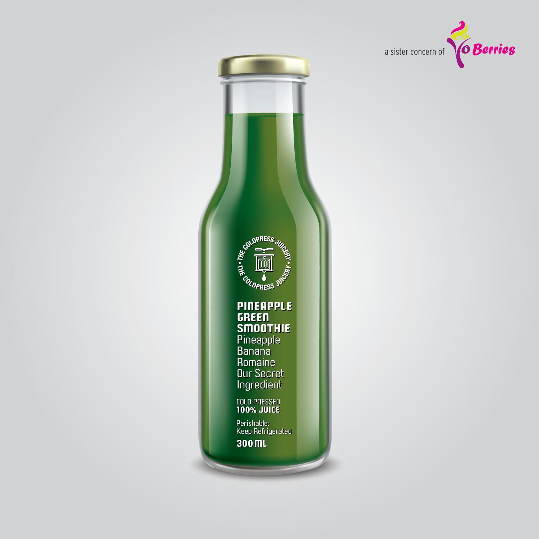 PINEAPPLE GREEN SMOOTHIE (Pineapple Banana Romaine Juice)
