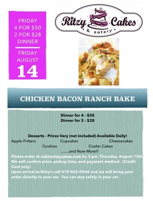 Friday Dinner - Cheesy Chicken Bacon Ranch Bake