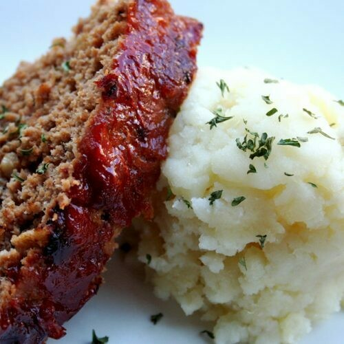 Weekly Dinner - Meatloaf with Mashed and Vegetables