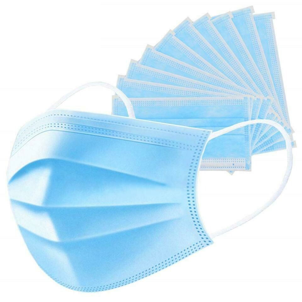 Disposable Surgical Type Face Masks - Pack 10